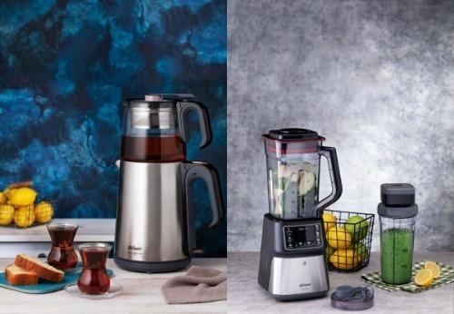 Elektrikli Ev Aletleri Çeyiz Paketi Arzum Blender Set ve Çay Makinesi